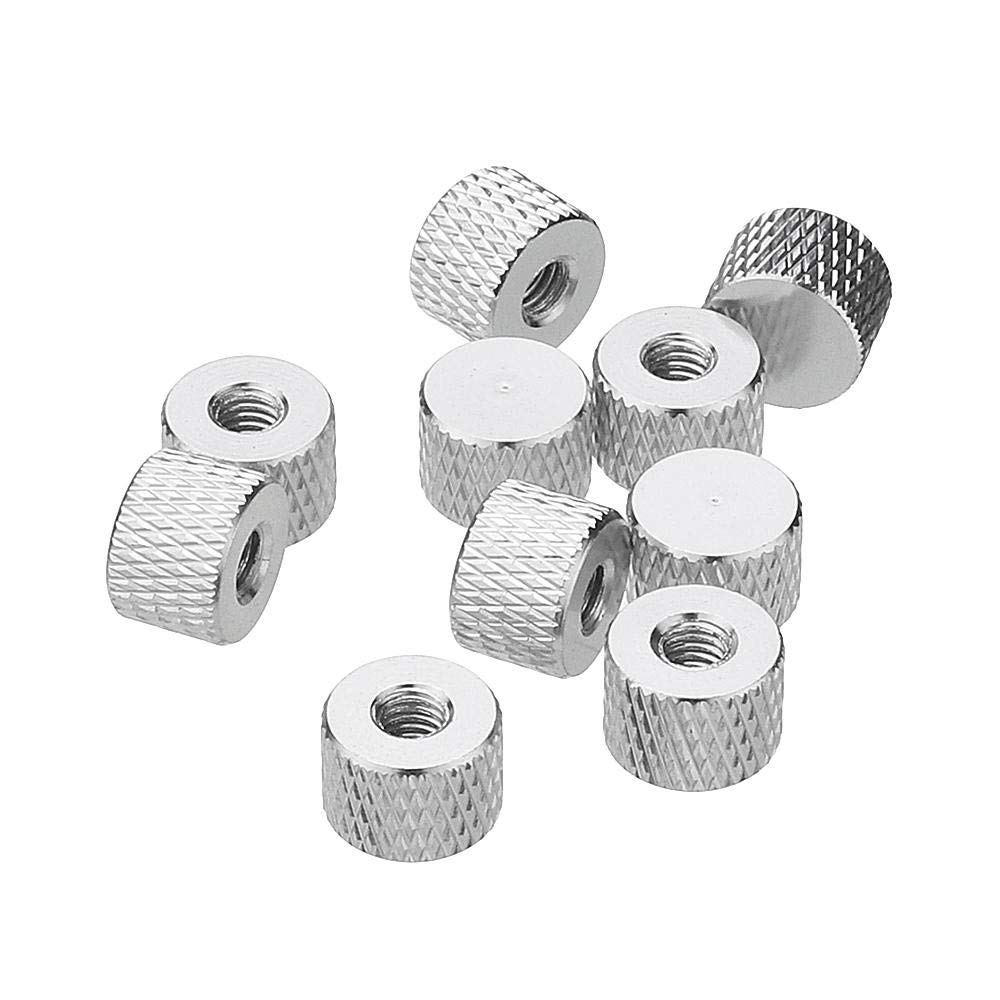 Silver M4an5 10pcs M4 Blind Hole Thread Aluminum Alloy Knurled Thumb Nut Hand-Tight Screw Nut Multi-Color Nut /& Bolt Assortment Sets by CHILUVU