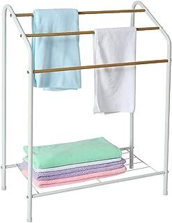 HOME BI Towel Bathroom Rack,3 Tier Metal Freestanding Towel Drying Shelf, Rust-Resistant, 23