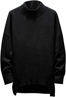 Wintialy Men's Autumn Winter Turtleneck Long Sleeve Pullover Sweater Shirt Blouse Tops