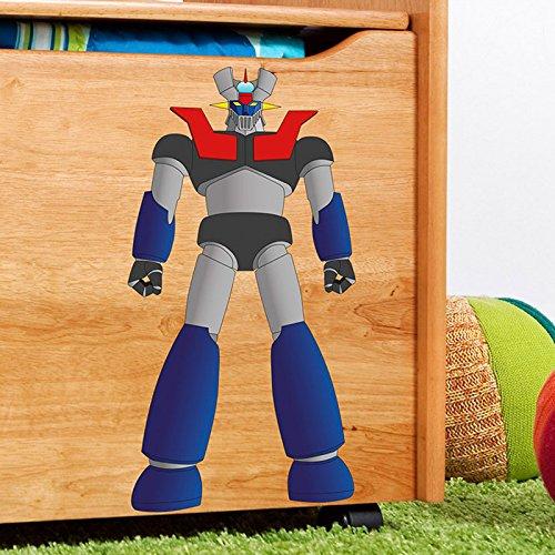 "IDEAVINILO - Sticker Robot Justiciero 2"". Medidas: 28x31cm"