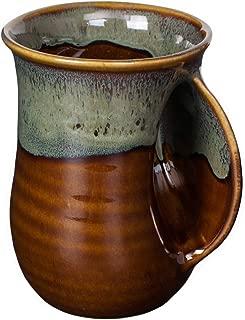 Clay in Motion Handwarmer Mug - Mocha - Right Handed,Brown,14oz.