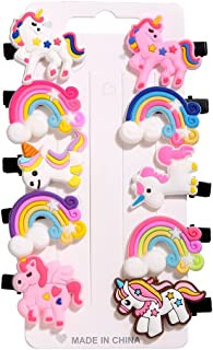 SHOPPING IN HANDS 10 Princess UNICORN RAINBOW Mermaids Hair Clips Set Baby Hairpin For Kids Girls Princess Hair Clips with...
