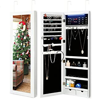 Best jewelry cabinet armoire w stand mirror Reviews