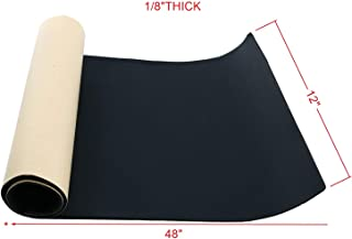"""Homend Sponge Neoprene with Adhesive Foam Rubber Sheet 1/8"""" Thick X 12"""" Wide X 48"""" Long, Cut to Multiple Dimensions and Lengths - DIY, Gaskets, Cosplay, Costume, Crafts"""