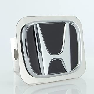 """Red JDM Honda Logo Hitch Cover 2/"""" Hitch Receivers Plug Stainless Steel Type R"""