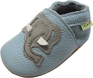 SAYOYO Chausson bébé Chaussure Bebe Garcon Fille Chaussures Cuir Souple Premiers Pas Chaussons Bébé