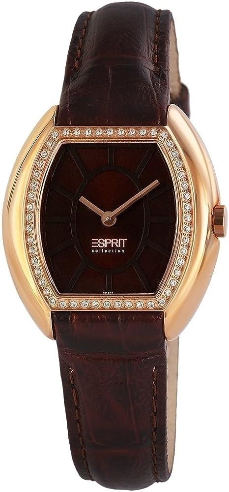 Esprit, orologio  da donna, cinturno in pelle e cassa in acciaio 20008395