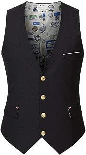 Hommes D'Hiver D'Hiver Slim Costume Gilet Loisirs Décontracté D'Affaires Sans Manches Un-Boutonnage Bouton Gilet Gilets