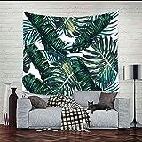 Tapiz de Hoja de Palma Banana Tree Leaves Wall Hanging Dormitorio Art Home Room Decor para Sala de Estar Dormitorio Beach Throw Cloth