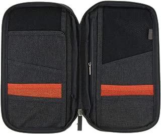 Prettyia Multi-purpose Travel Passport Wallet, Document Organizer Holder, Credit ID Card Cash Safety Sleeve Protector Purse for Men Women,10.0 x 5.7 x 1.6inch