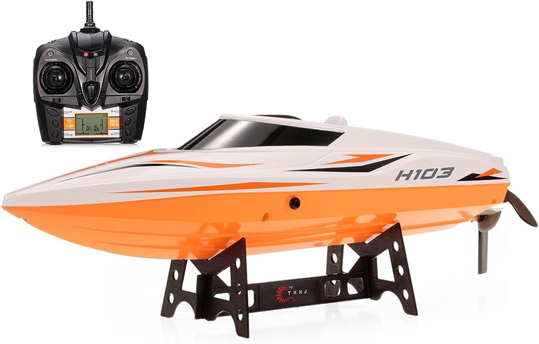 tiempo libre Goolsky TKKJ H105 (H103) (H103) (H103) 2.4G 2CH de alta velocidad RC Racing Barco con interruptor de modo autoadjables  Garantía 100% de ajuste