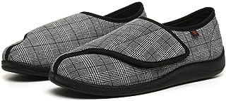 Cxypeng Diabéticas para Hombres Zapatos,Zapatos de Tela de Talla Grande para Personas Mayores y de Mediana Edad, Zapatos d...