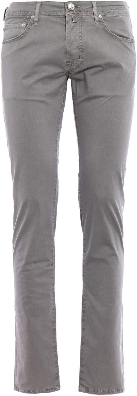 JACOB COHEN Men's PW62206510915 Grey Cotton Pants