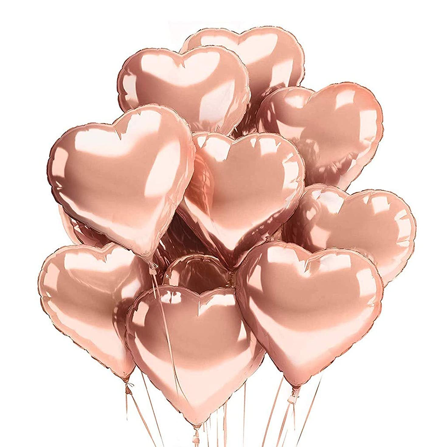 ??Ywoow?? Confetti Balloons, Happy Birthday Decor Balloons Kit Rose Gold Birthday Banner Confetti Balloons