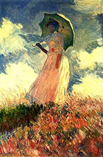 Het Museum Outlet - Vrouw met zonnescherm - Canvas (24 x 18 Inch)