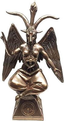 AtlanticCollectibles Baphomet Figurine The Sabbatic Goat Satanic Church Decorative 9.5H Statue