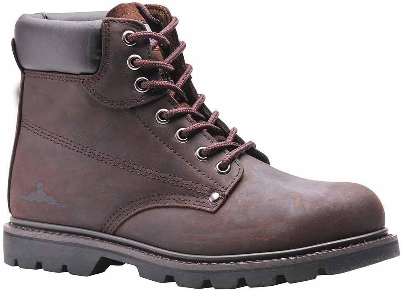 SUw - Steelite Welted Work Safety Workwear Ankle Boot SB HRO - Brown - UK 6
