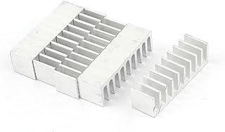 sourcing map Sourcingmap 5uds Disipador Térmico Plateado del Radiador de Aluminio Disipador Térmico de 35mm x 10mm x 10mm