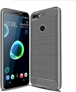 غطاء حافظة HTC Desire 12 Plus ، حافظة من ألياف الكربون ، لينة غير قابلة للانزلاق ، غطاء حماية كامل ل HTC Desire 12 Plus HT...