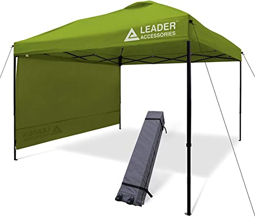B07RV7YN4T✅Leader Accessories 10′ x 10′ Instant Canopy with 4-Pack Canopy Weights & One Wheeled Carry Bag
