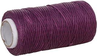 Utoolmart Crafts 1mm leather sewing thread flat wax string (1mm 50M, Dark Purple) 1Pcs