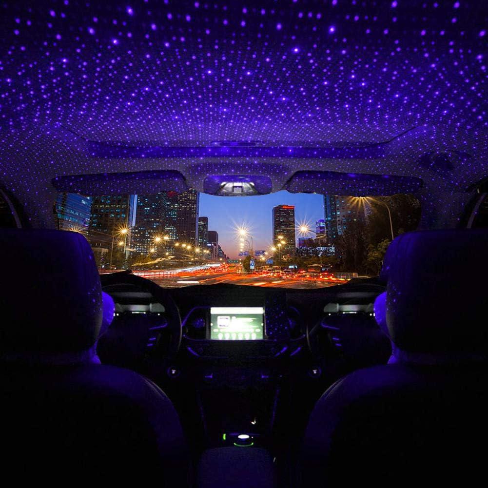 HOTEU Cool Auto Und Heimdeckenprojektor Atmosphäre Sternenhimmel Lampe  Romantischer USB Nachtatmosphären Dekorationslicht lila LED Projektor Keine  ...