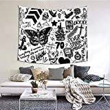 1d Tattoos Updated 2015 Living Room Home Art Decor Tapestry Bedroom Dorm Wall Hanging 60 X 51 Inch