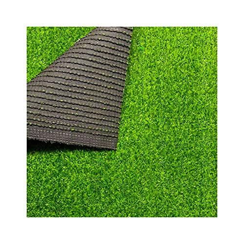 ALYR Césped sintético Alfombra, Realista Hierba Artificial Alfombra de Hierba Césped Pasto Sintético Fácil de Limpiar Respaldo de Goma de 15 mm Hige para jardín/Piscina/Perro etc,Green_3x6ft/1x2m