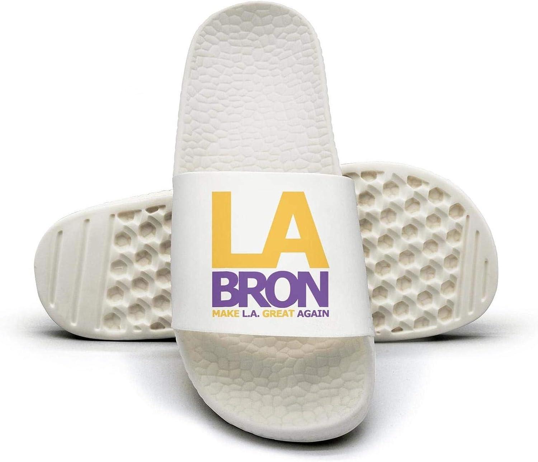 ADIDII Womens Printed Non-Slip Slipper Slides flip Flop Sandals La-bron_Make_LA_Great_Again Summer Outdoors