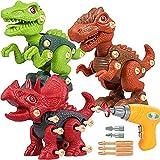 Desmontar Dinosaurios juguetes, Regalo de juguetes de dinosaurio para niños, Juguetes de dinosaurios para niños de 3 4 5 6 7 8 años