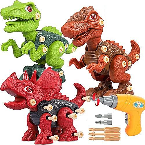 Dinosaurier Montage Spielzeug, Kinder Dinosaurier Spielzeug Geschenk, Dinosaurier Spielzeug für Jungen 3 4 5 6 7 8 Jahre alt Weihnachten Neujahr Geburtstagsgeschenk für Jungen Mädchen