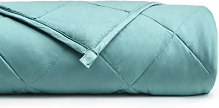 YnM Bamboo Weighted Blanket for Insomnia, Anxiety and Stress — 100% Natural Bamboo Viscose Material with Premium Glass Bea...