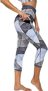 AS ROSE RICH Women's Sport Gym Yoga Pants High Waist Out Pocket Tummy Control Leggings