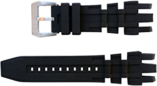 Vicdason for Invicta Subaqua Reserve GMT Watch Bands Replacement Strap with Bukcle - Black Rubber Silicone Invicta Watch Strap
