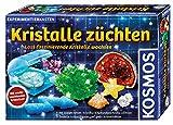 KOSMOS 643522 Kristalle züchten. Lass faszinierende Kristalle wachsen. Komplett-Set, nachtleuchtende, glitzernde Kristalle, Blitzkristalle, Druse, Schatztruhe,...