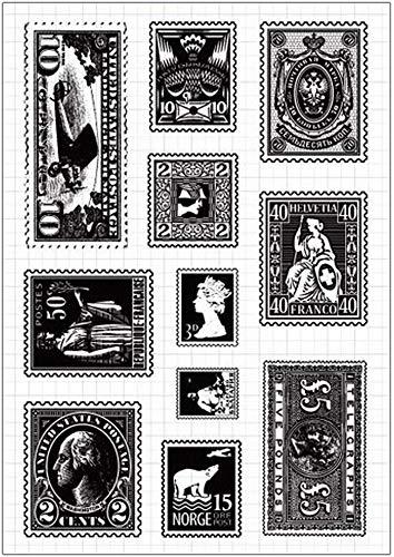 クリアスタンプ 切手 シリコン 判子 手帳や手作りカードに