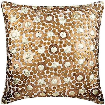 Cash special price Clearance SALE! Limited time! The HomeCentric Handmade Gold Pillow 3D Cases Sequins Glit