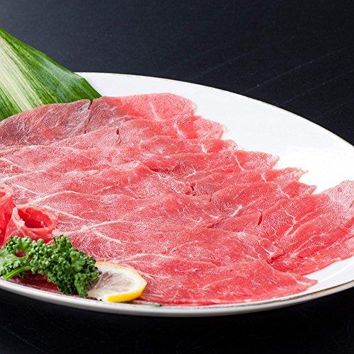 【冷凍配送】【 馬刺し 】【 生食 】お鍋に大人気!馬刺し スライスしゃぶしゃぶ、すき焼き (300g×4パック)