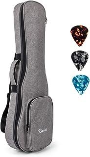 Kmise バリトンウクレレベース用 ギグバッグ キャリーハンドル ソフト収納ケース ピック3枚付属 両肩掛けストラップ ギターレレにも対応でき (30インチ)