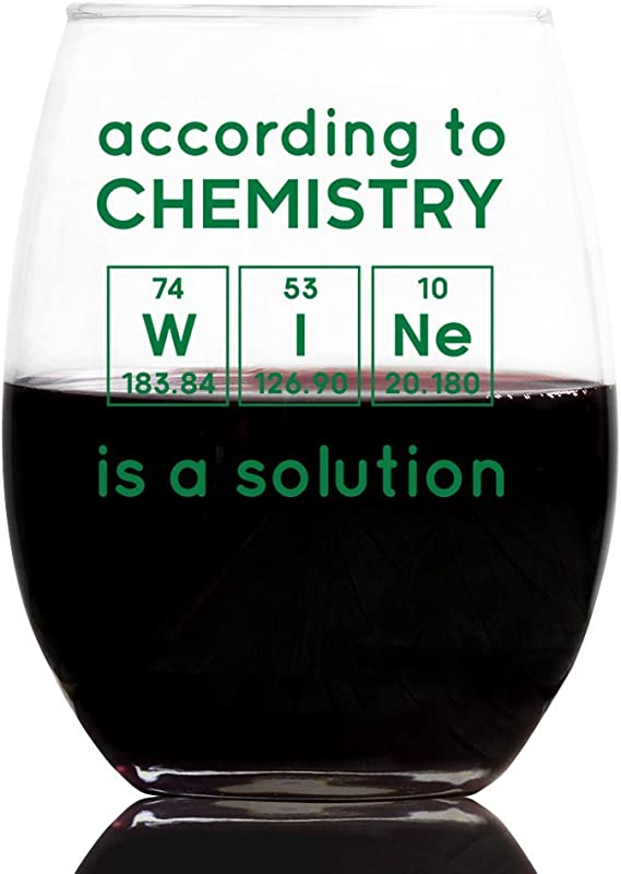 Customgift Funny Wine Glass Periodic Table Birthday Science Teachers Day 21 Oz