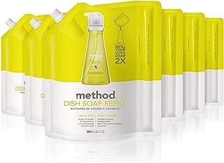 Method Dish Soap Refill, Lemon Mint, 36 Ounce (6 Count)