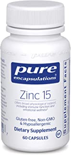 Pure Encapsulations - Zinc 15 - Zinc Picolinate (15 mg.) Highly Absorbable Hypoallergenic Supplement for Immune Support* -...
