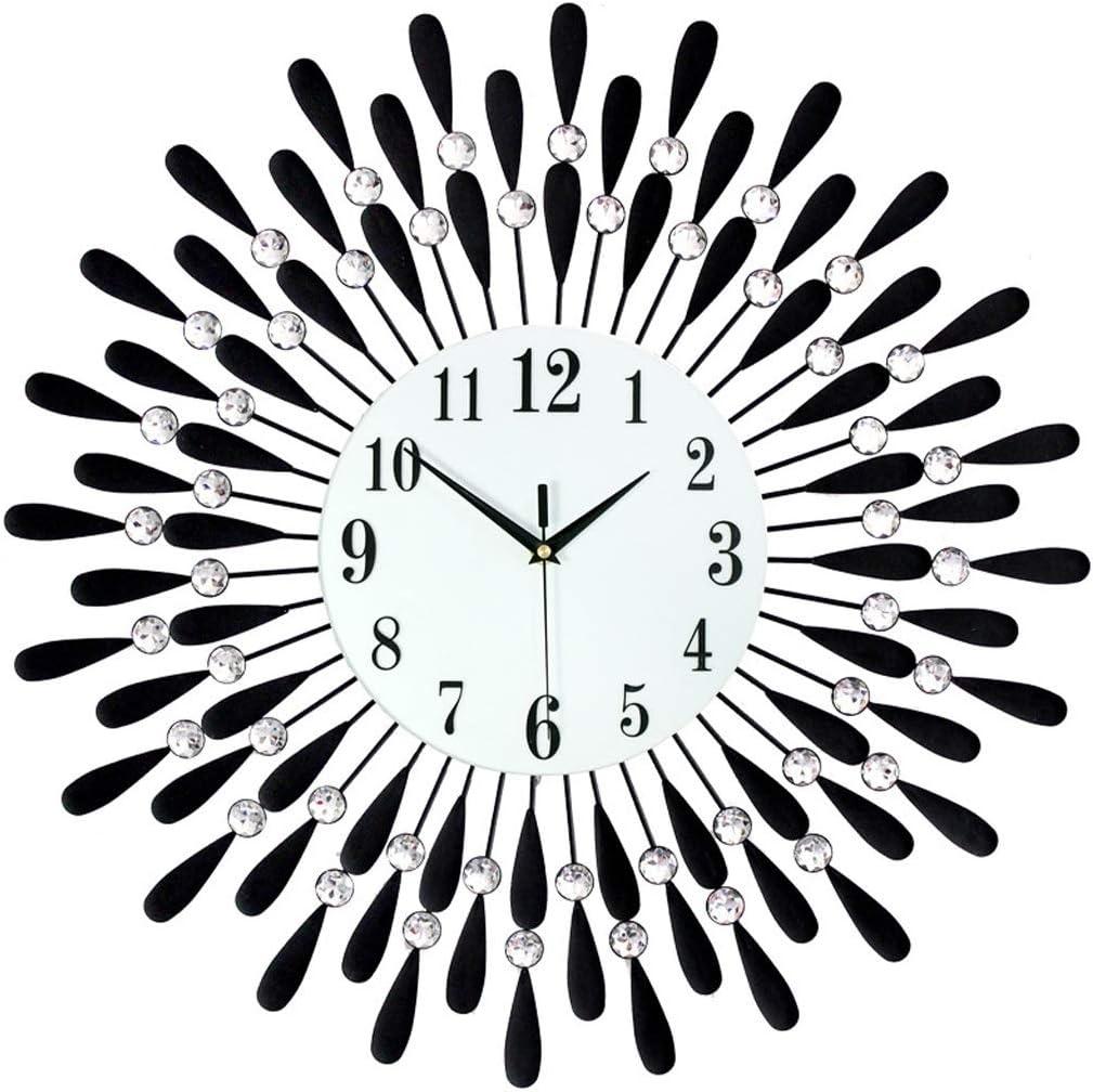 CDQYA Newly 3D Large Wall Clock Nippon regular agency Style Sun Crystal Award-winning store Modern Silent