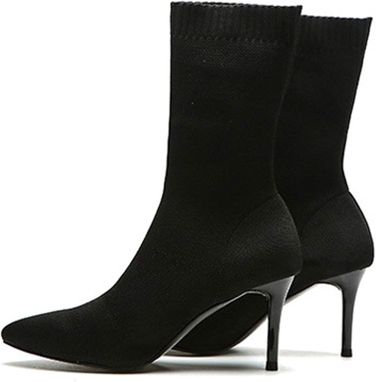 Boots for Women Autumn Women's shoes Ladies shoes Stretch Sock Boots Women's Boots