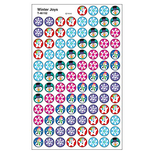 Trend Enterprises Winter Joys Super Spots Stickers (800 Piece), Multi