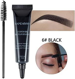 Eyebrow Liner Cream with Brush, Professional Eyebrow Gel Waterproof Eyebrow Dye Eyebrow Gel Tint Eyebrow Brush Cosmetic Tools(6)