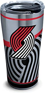Tervis 1287642 NBA Portland Trail Blazers Paint Stainless Steel Insulated Tumbler with Clear and Black Hammer Lid 20oz Silver