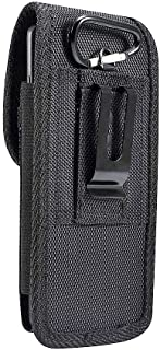 DFV mobile - Belt Case Cover Nylon with Metal Clip Business for Samsung Galaxy J2 Prime (2019) - Black