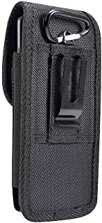 DFV mobile - Belt Case Cover Nylon with Metal Clip New Style Business compatible with VKWORLD K1 (2018) - Black