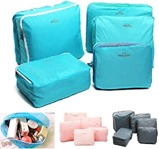 Storage Bags Travel Packing Cubes Luggage Organizer Pouches Durable Multi-functional 5 Pcs (Gray)